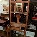 Tall solid wood hall stand with mirrors E165