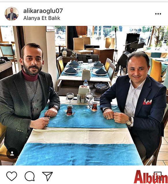 Alanya Et & Balık Restoran'ın sahibi Ali Karaoğlu, Nurettin Uludağ ile birlikte yaptığı bu paylaşımla takipçilerinin beğenisini topladı.
