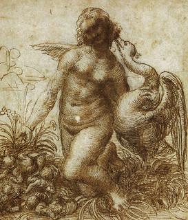 davinci-paintings-Study_for_the_Kneeling_Leda