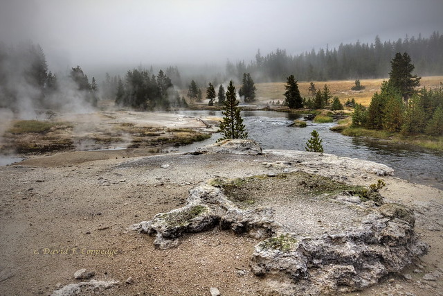 Wild thermal area not far from Old Faithful