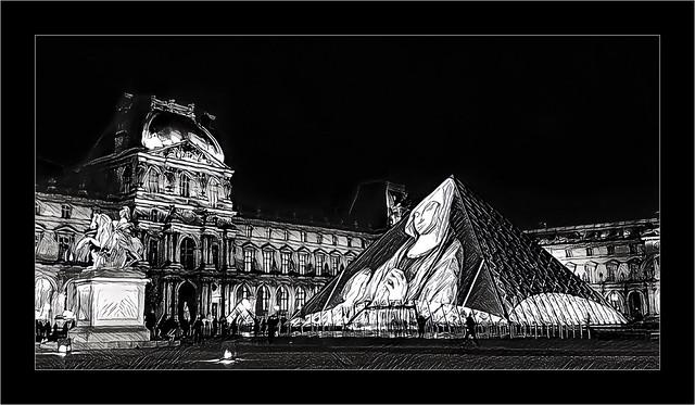 Série Pyramide du Louvre : N° 22