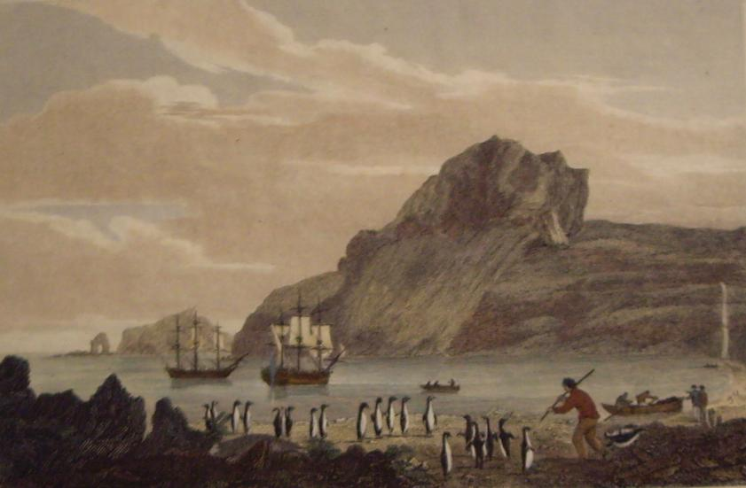 Christmas Harbour, Kerguelens Land, dated 1811 by George Cooke