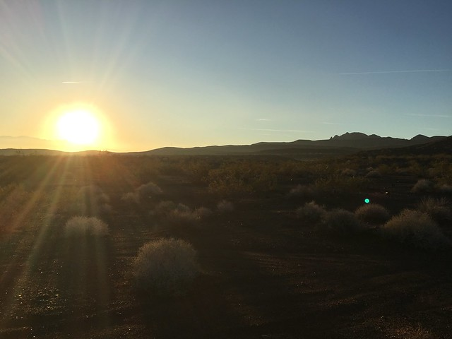 Sunrise along Lake Mead Parkway
