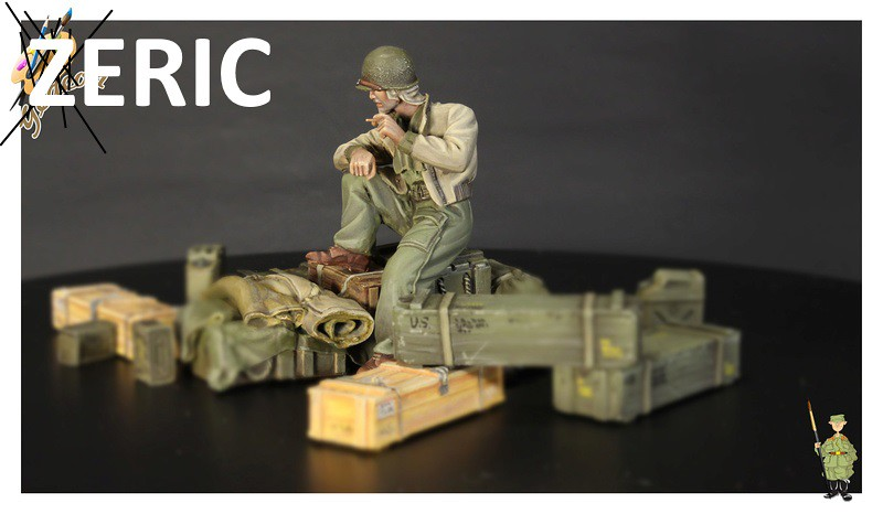 U.S. Tank crew en resine 1/35ème (marque WARRIORS et ROYAL  MODEL)   39101633315_247089fdc7_b