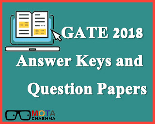GATE 2018 Answer Keys and Question Paper