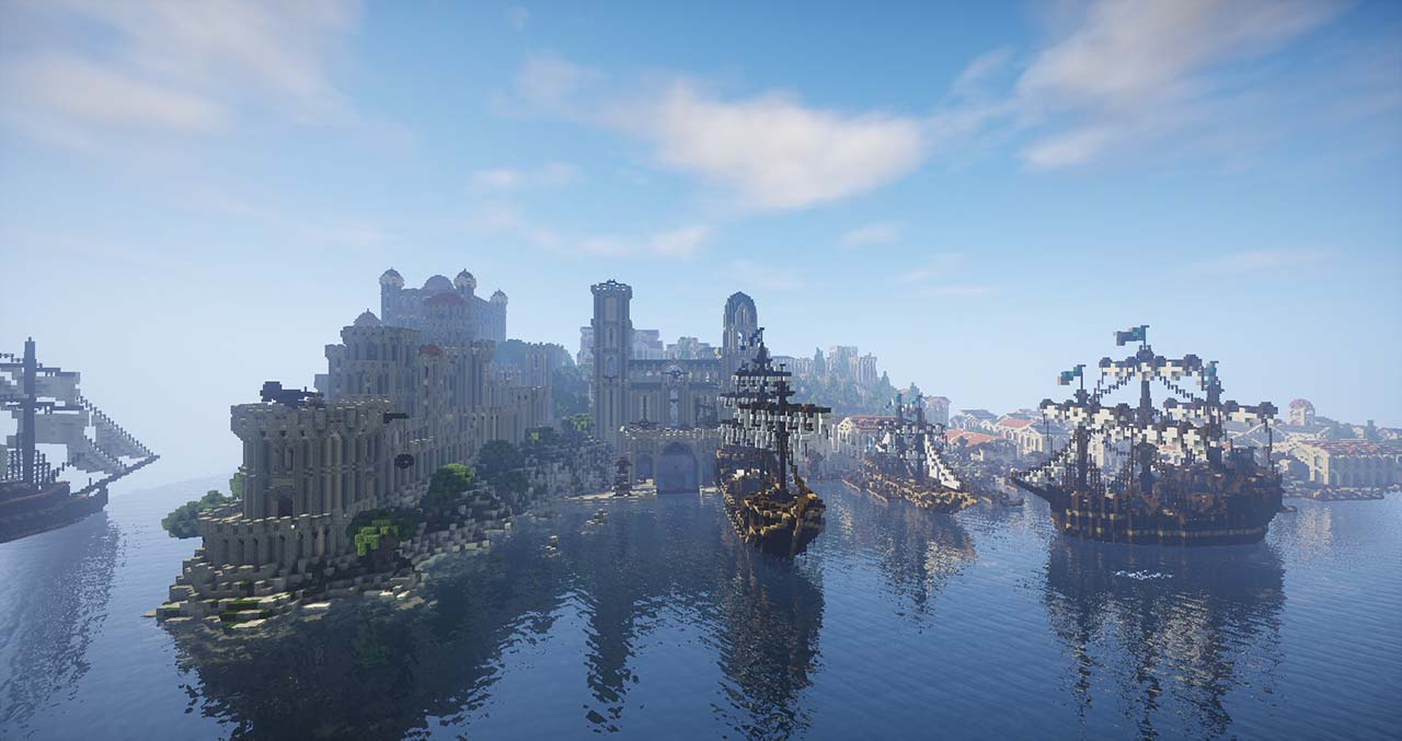 Minecraft Middle Earth By @mcmiddleearth: Pelargir - First Permanent Settlement In Gondor
