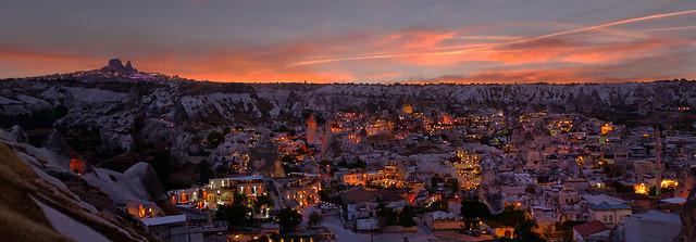 Göreme'de Akşam Panoraması(Evening Panorama in Goreme)