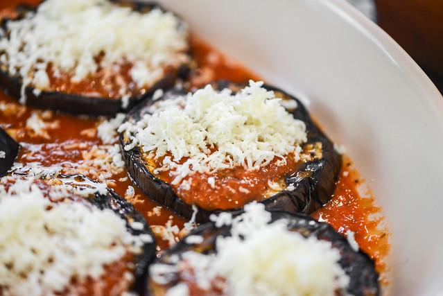 Grilled Eggplant Parmesan