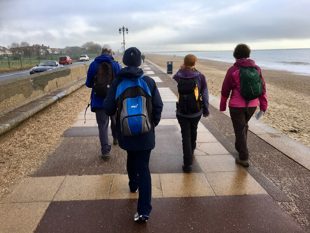 Southsea promenade Portsmouth to Hayling Island walk