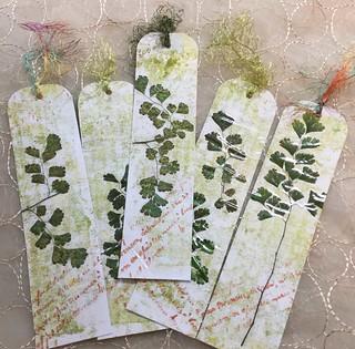 Fern Leaf Gelli Print Bookmarks