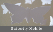 White Butterfly Mobile