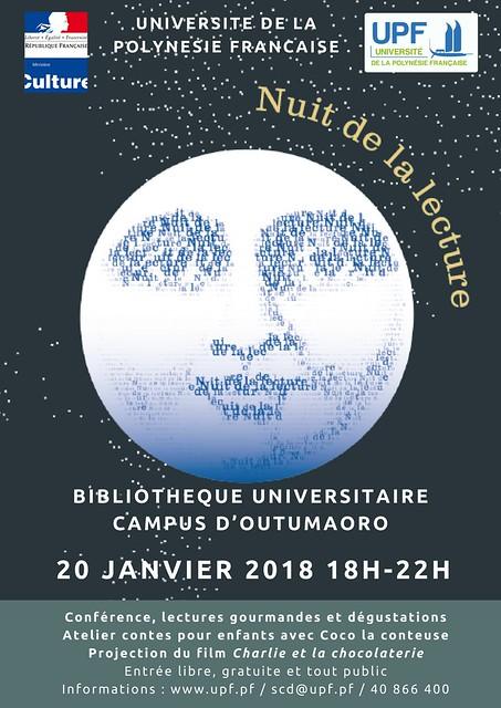 BU : Nuit de la lecture - 20 janvier 2018