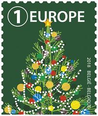 19b Noël Europe timbre