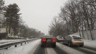 Morning commute / stuck in traffic