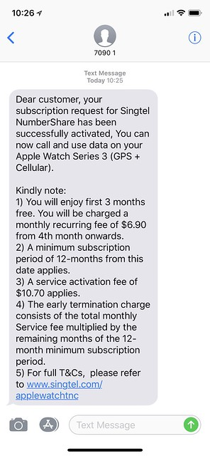 Singtel SMS