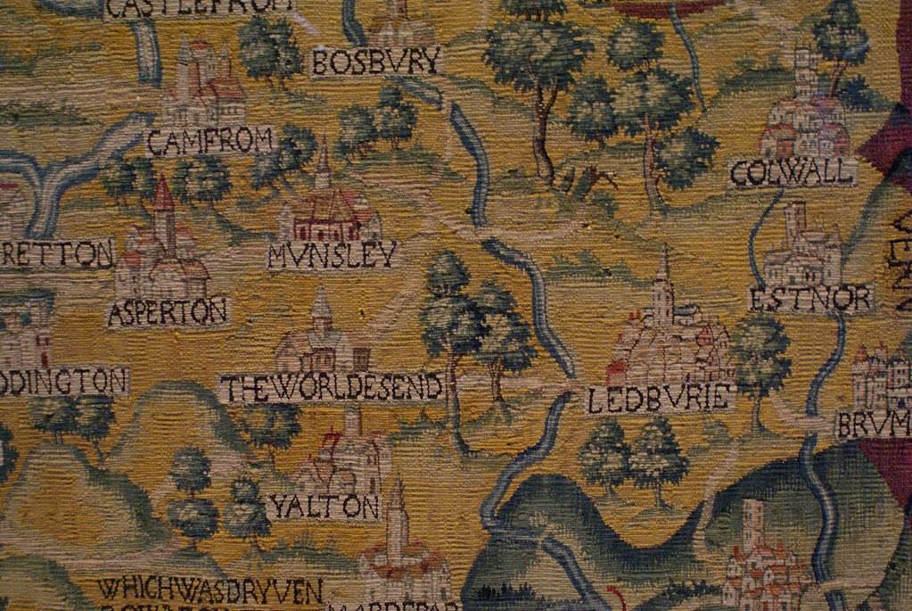 Carte des environs d'Oxford dans la Weston Library d'Oxford.