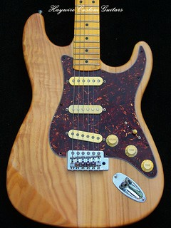 Haywire Custom Guitars  Ash  Strat finished Amber Maple neckLollars2
