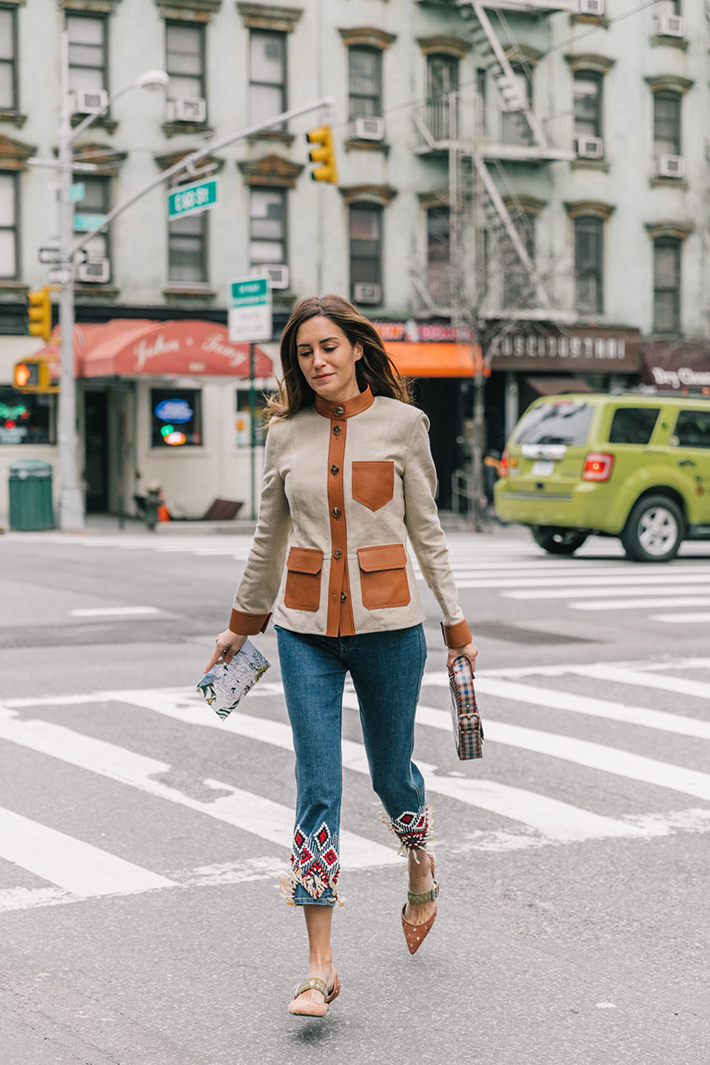 Best Street Style at New York Fashion Week Fall 2018 trend street style fashion outfit 20181