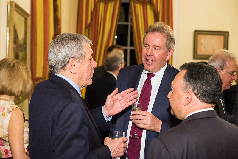John Tanner, Ambassador Darroch - 2017 Tribute Dinner at the Residence of the British Ambassador