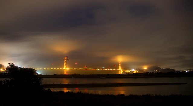 Golden Gate Fog, Canon EOS REBEL T3I, Tamron 18-250mm f/3.5-6.3 Di II LD Aspherical [IF] Macro