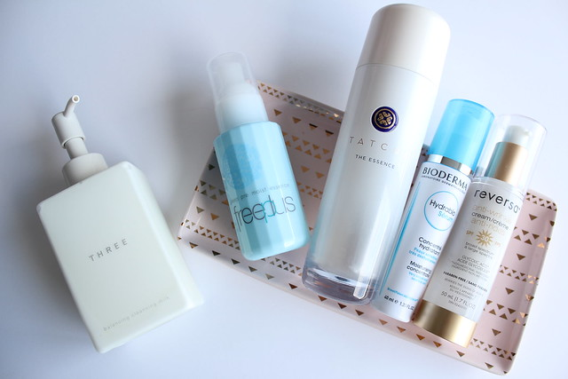 Morning skin care routine featuring Tatcha The Essence