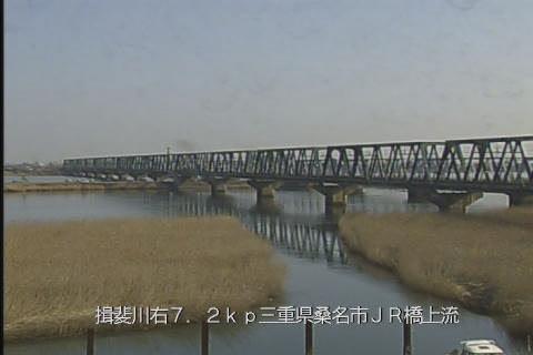 揖斐川JR橋梁上流ライブカメラ画像. 2018/01/20 10:45