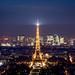 Eiffel Tower-motoros napellenző