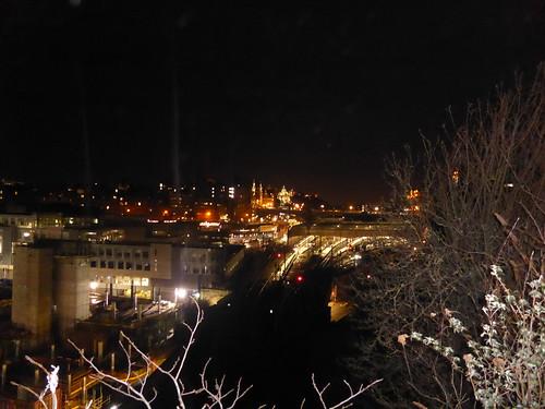 Last view over Edinburgh