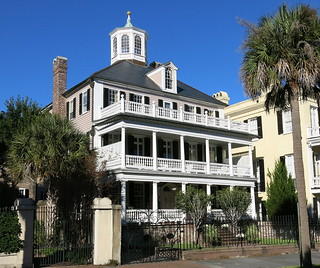 The Col. John Ashe House (c.1782, renovated 1930s), 32 South Battery, Charleston, SC