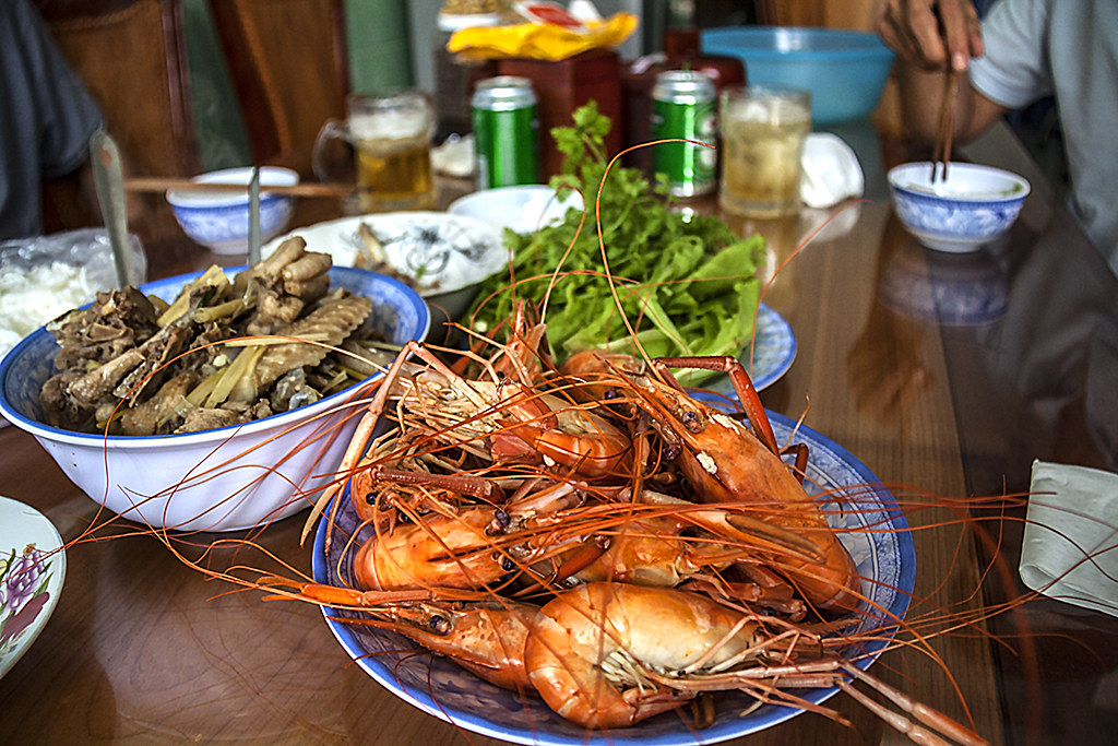 Huge shrimps--Ben Tre