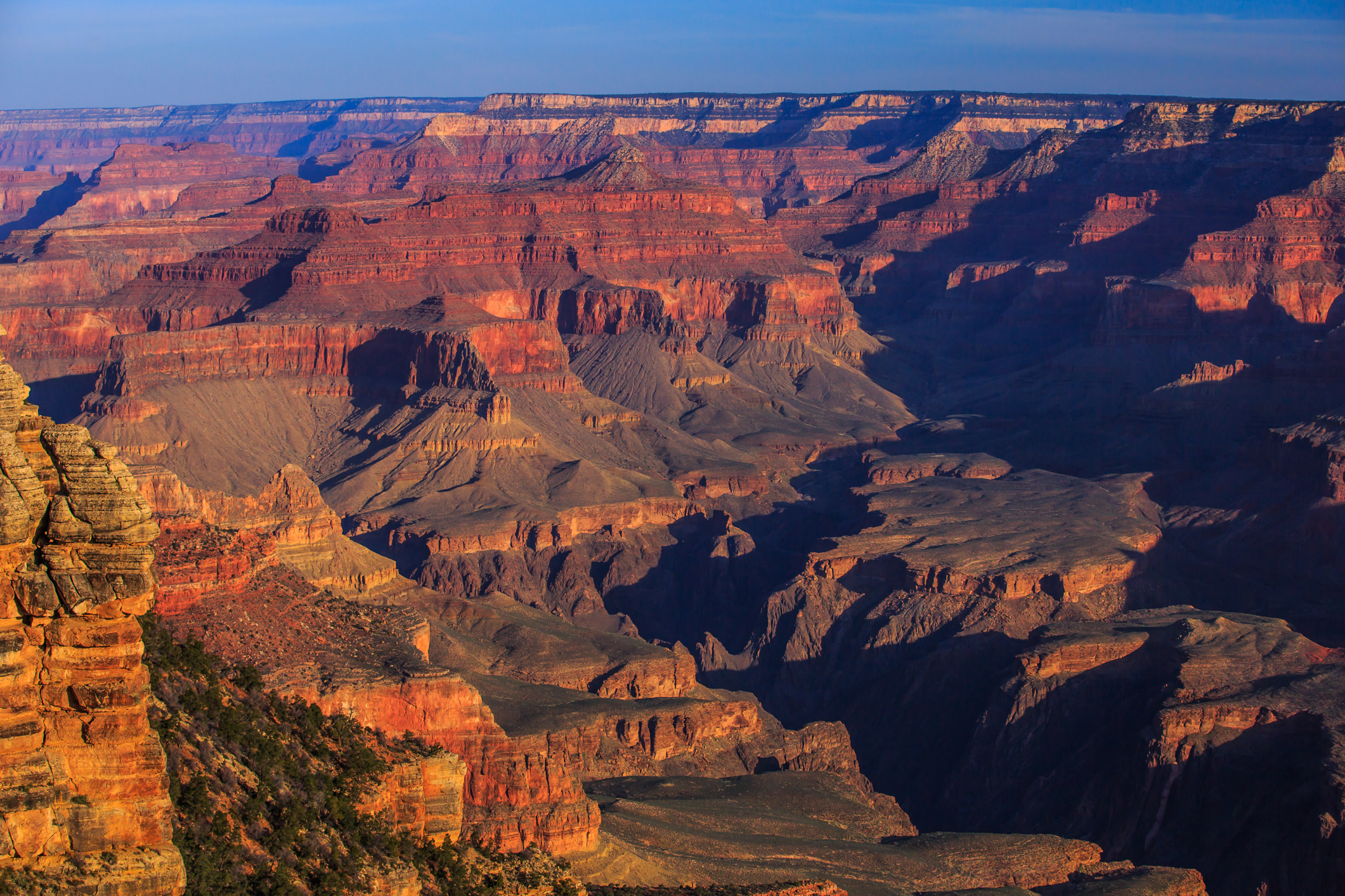 Grand Canyon from the South Rim at dawn. Photo taken on March 27, 2013.