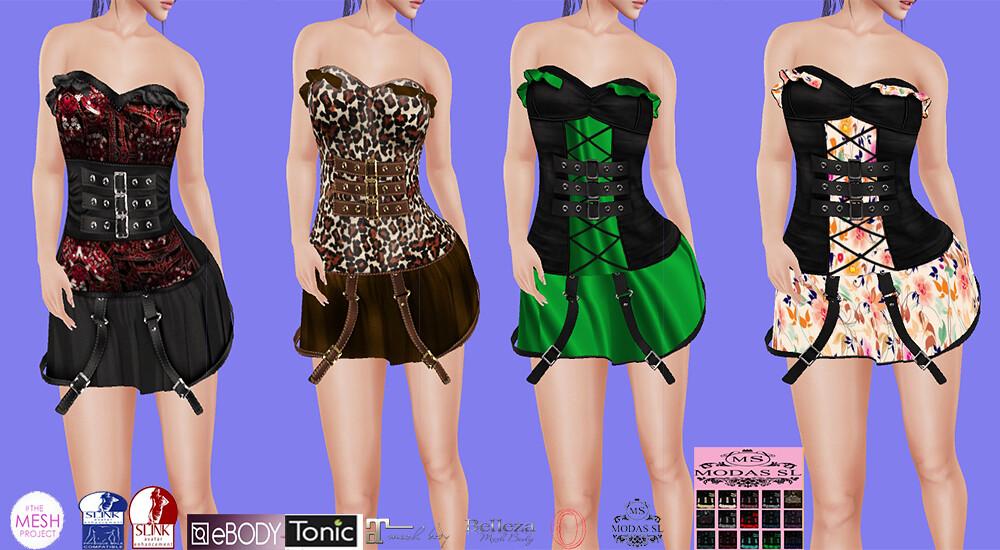 MS]Luciana Casual dress#36 Mesh: 100% incluid:HUD 15 color