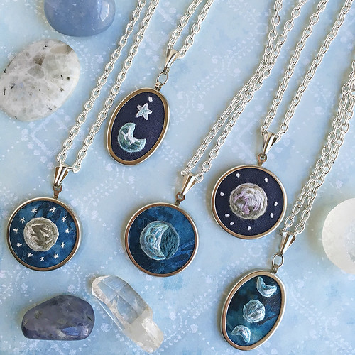 mini moon pendants