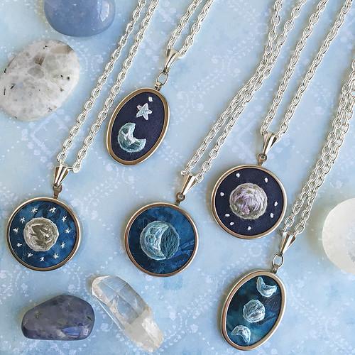 mini moon pendants