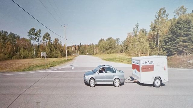 U-haul at the Yellow Brick Road. #ridingthroughwalls #xcanadabikeride #googlestreetview #ontario