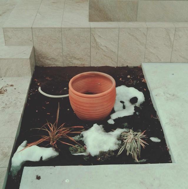 Blank flowerpot