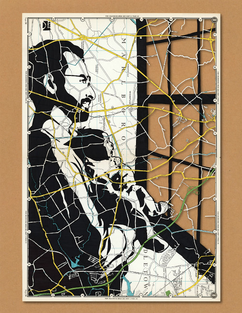 Papercut Map Portrait - Fatherhood 1 The World is Yours