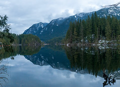 Buntzen Lake reflection pano-2
