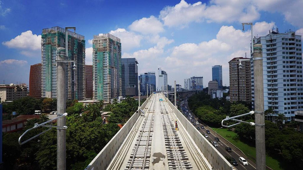 Post the picture of mass transit and station in capital city at