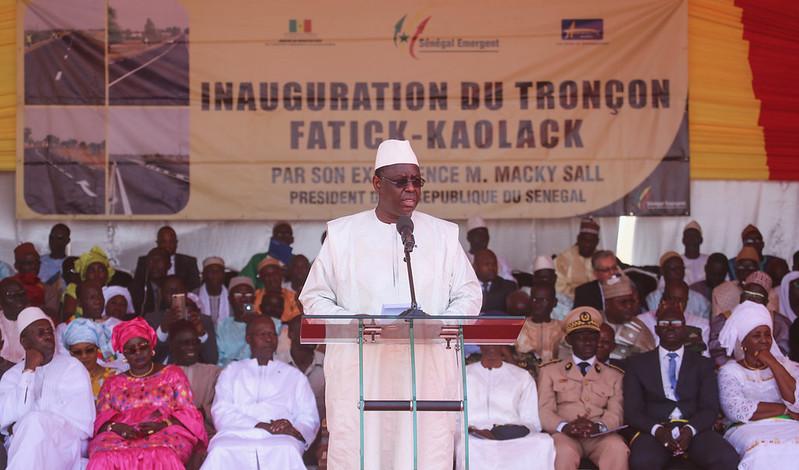 Inauguration du tronçon Fatick Kaolack