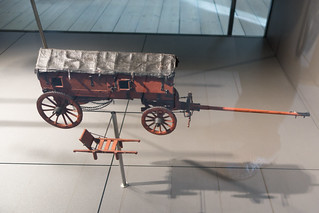 Model prototype of a military wagon