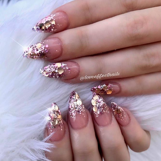 87+ Examples of Beautiful Pointy Nails Designs - Fashionre