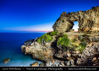 Albania - Dhërmi - Rocky Arch at Dusk