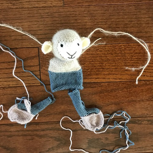 Sue2Knits Girl Lamb WIP