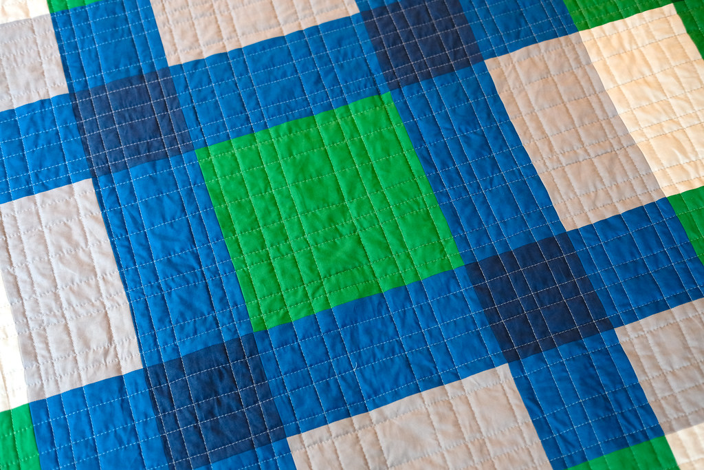 January Giant Block Quilt