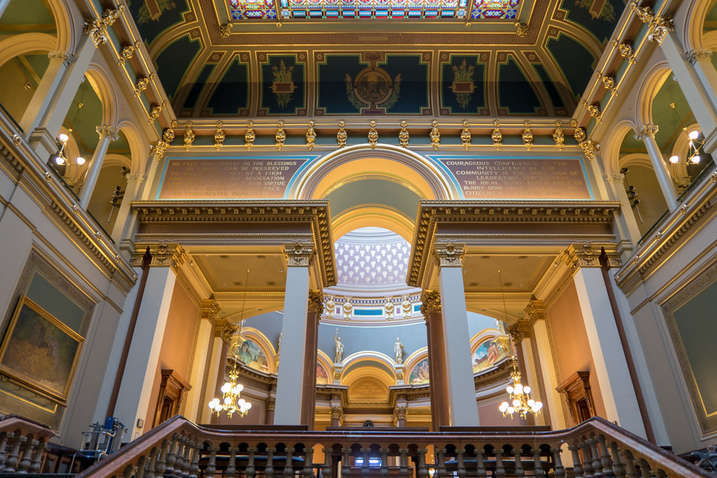 Inside the Iowa State Capitol