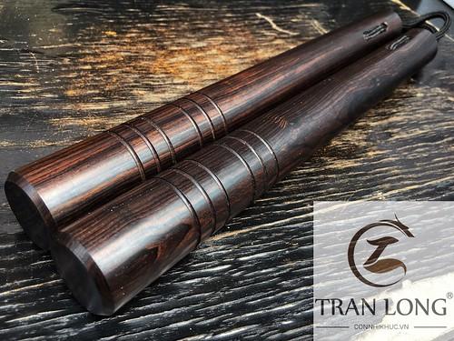 Côn nhị khúc gỗ Trắc Đen Nam Phi