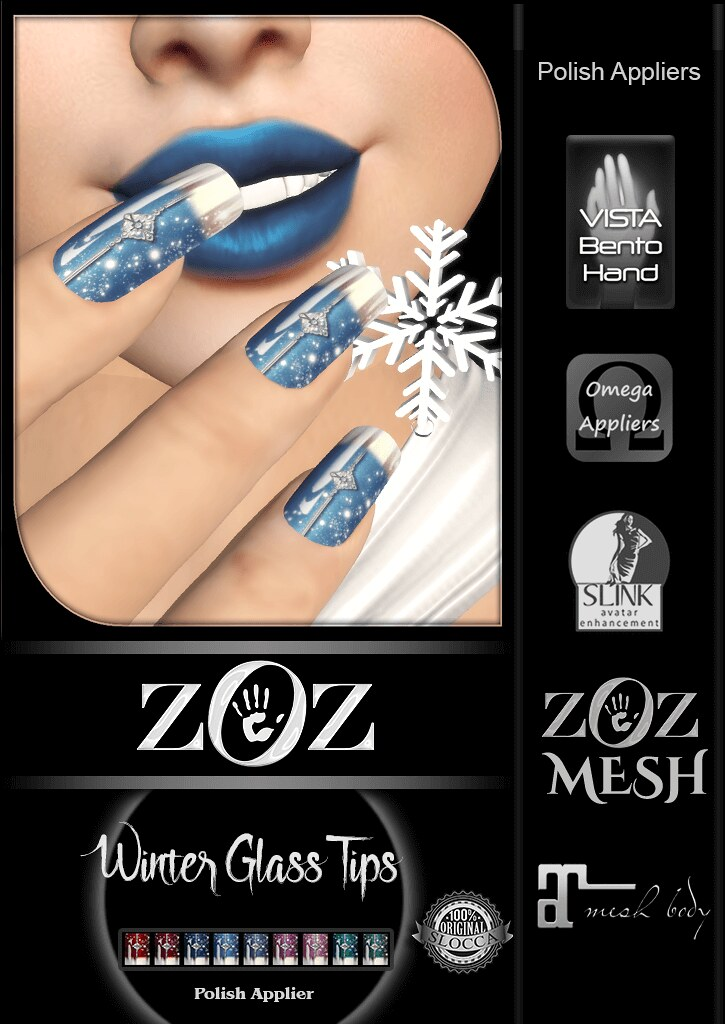 {ZOZ} Winter Glass Tips Pix L