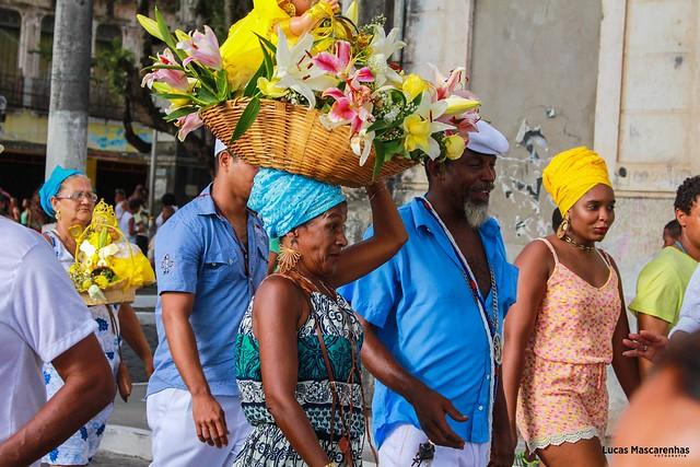 Milhares de pessoas se reúnem durante as festas populares e religiosas, como o Dia de Yemanjá, comemorado no dia 2 de fevereiro. - Créditos: Lucas Mascarenhas