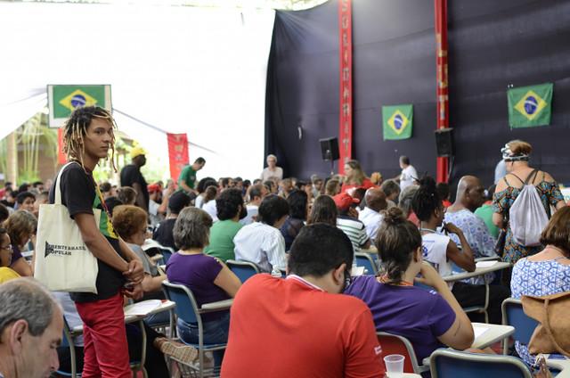 Mais de 300 militantes participaram da II Conferência Nacional da Frente Brasil Popular, que debateu a conjuntura política brasileira - Créditos: Comunicação Frente Brasil Popular